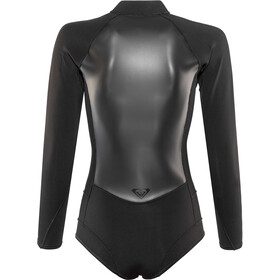 Roxy 1.0 Satin Cheeky Spring B-Lock Front Zip Long Sleeve Wetsuit Women Black